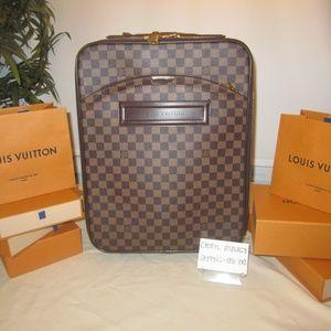 Damier Canvas Pegase 45 Suitcase
